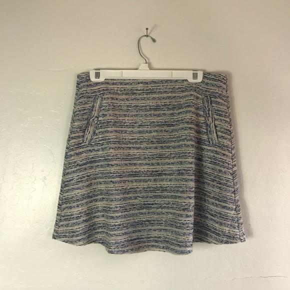 Loft Periwinkle and Cream Specked Twead Skirt